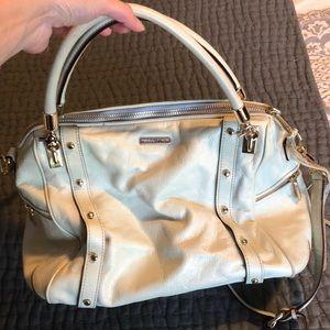 Rebecca Minkoff cream leather satchel